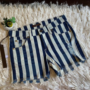 James Jeans Barbados Striped Shorty Stretch Shorts